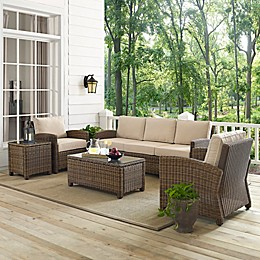 Crosley Bradenton 5-Piece Wicker Sofa Conversation Set