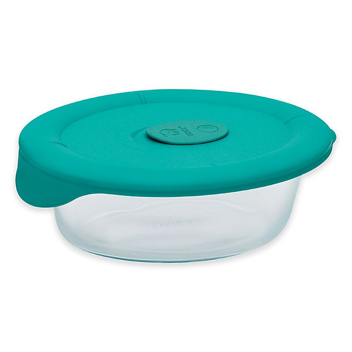 Alternate image 1 for Pyrex® Pro 3 qt. Oval Dish with Bondi Plastic Lid