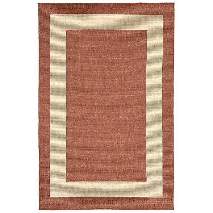 Alternate image 1 for Liora Manne Border 7-Foot 10-Inch x 9-Foot 10-Inch Indoor/Outdoor Rug in Terracotta