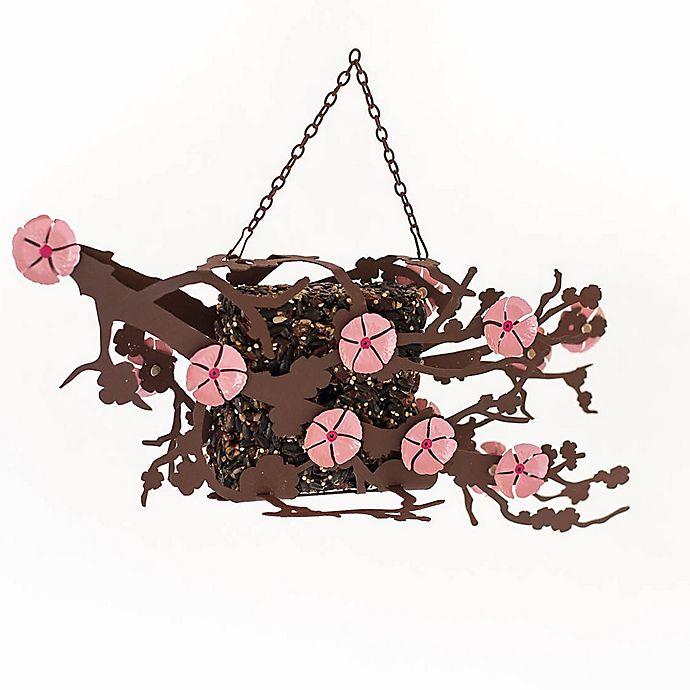 Alternate image 1 for Desert Steel Cherry Blossom Suet Bird Feeder