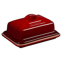 Le Creuset® Heritage Butter Dish in Cherry