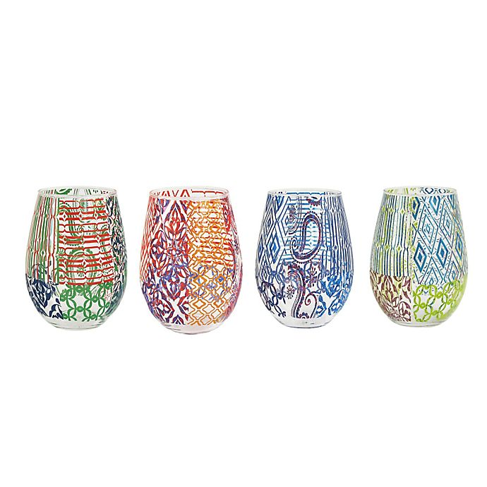 Alternate image 1 for Tracy Porter Stemless Wine Glasses (Set of 4)