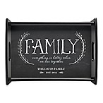 Family  Handled Serving Tray in Grey