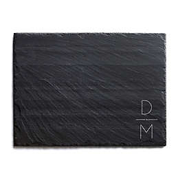Our Initials Slate Cheese Board