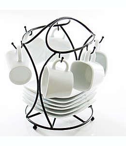 Tazas para espresso de hierro B. Smith® con soporte, Set de 13 piezas