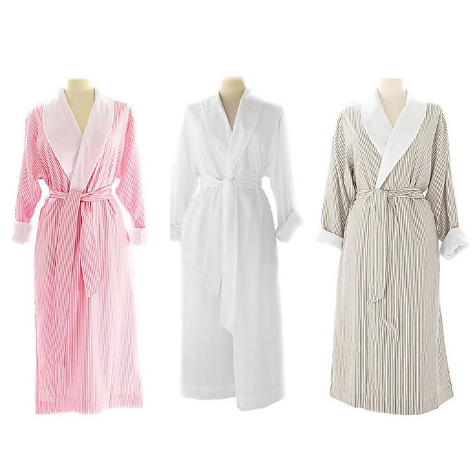 Alternate image 1 for Telegraph Hill Seersucker Double-Layer Microfiber Robe
