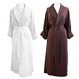 Telegraph Hill Waffle Weave Double-Layer Microfiber Robe