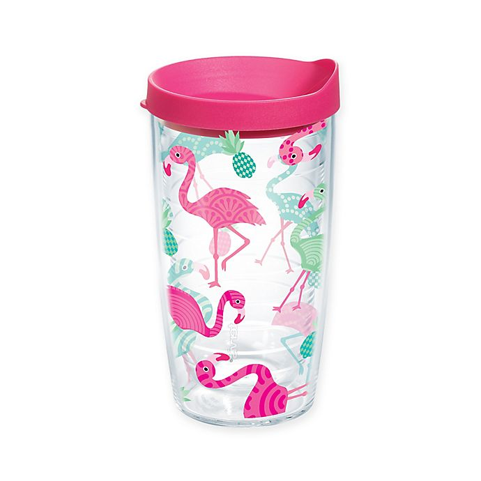 Alternate image 1 for Tervis® Whimsical Flamingo 16 oz. Wrap Tumbler with Lid