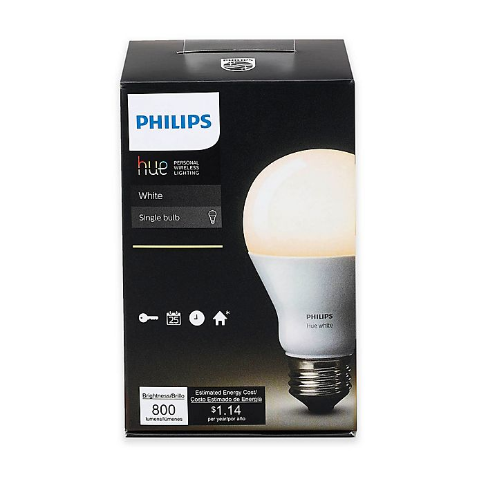 Alternate image 1 for Philips Hue White A19 Single Dimmable LED Bulb