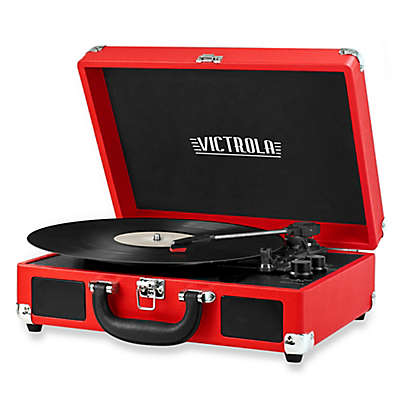 Victrola™ Retro Record Player Stereo with Bluetooth® in Red
