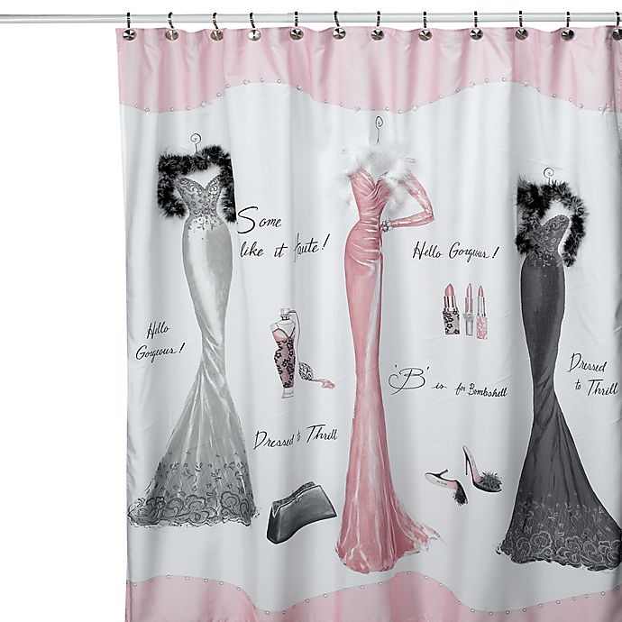 Avanti Dressed To Thrill 70 Inch X 72 Shower Curtain