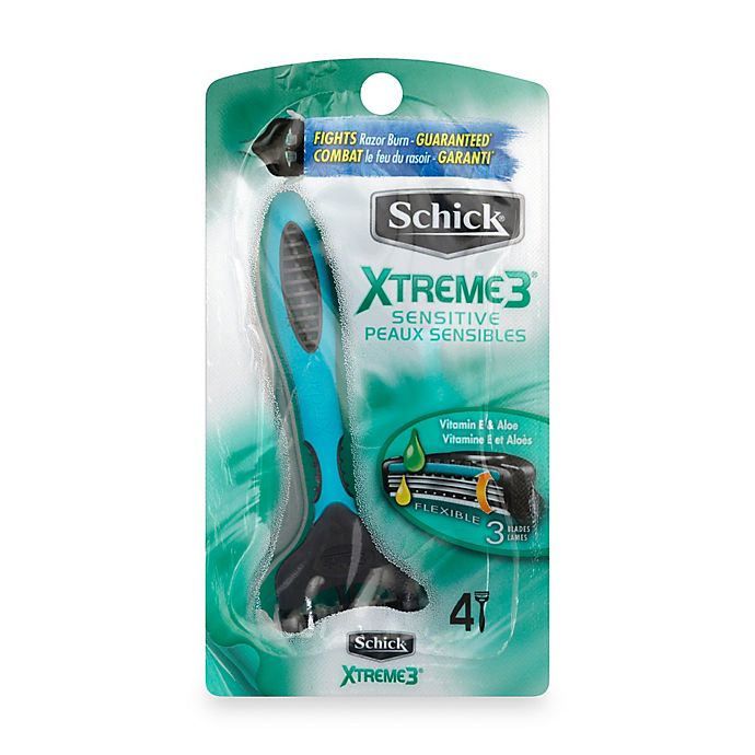 Alternate image 1 for Schick® Xtreme3® 4-Pack Sensitive Disposable Razors with Aloe