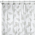 Modern Leaf Peridot Shower Curtain