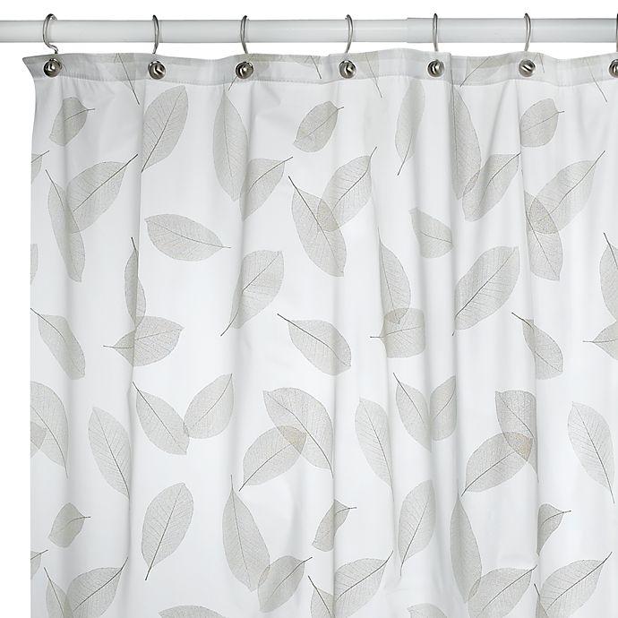 Alternate image 1 for Modern Leaf Peridot Shower Curtain