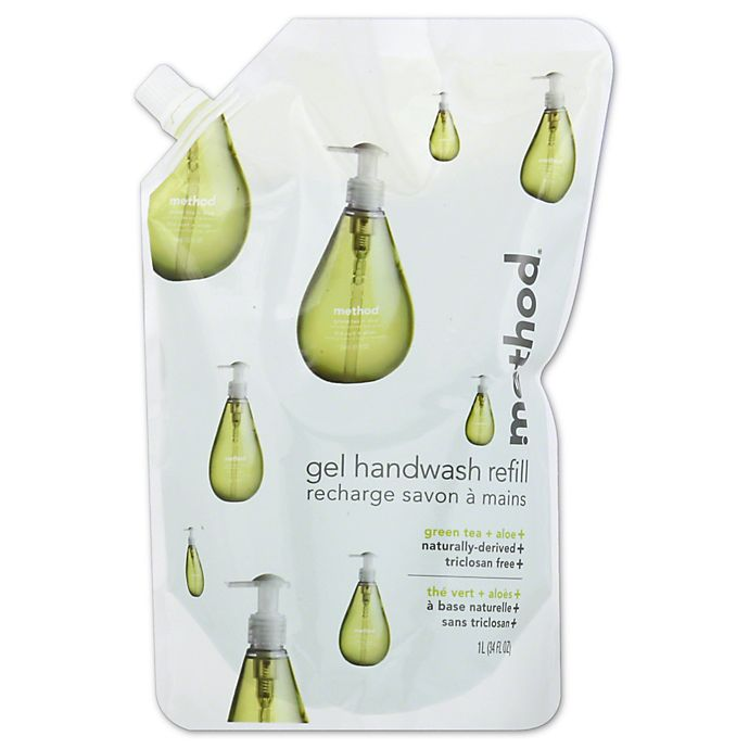 Alternate image 1 for Method® 34 oz. Gel Hand Wash Refill in Green Tea and Aloe