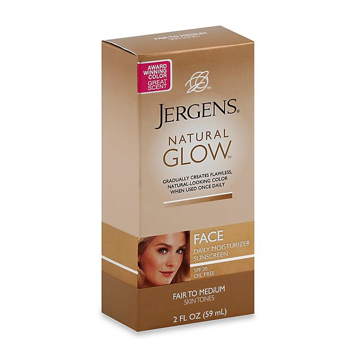 Alternate image 1 for Jergens® 2 oz. Natural Glow Face Moisturizer Medium to Fair with SPF 20