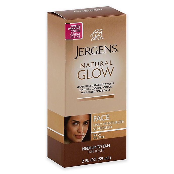 Alternate image 1 for Jergens® 2 oz. Natural Glow Face Daily Moisturizer Medium to Tan with SPF 20