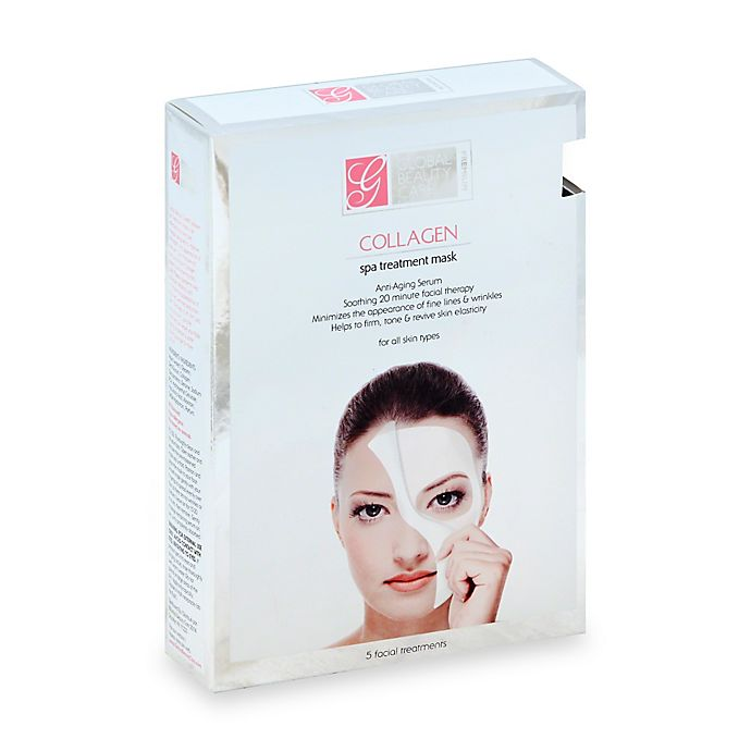 Alternate image 1 for Global Beauty Care™ 5-Count Collagen Spa Treatment Mask