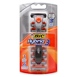 BIC® Hybrid 3 Comfort™ Disposable Razor with 6 Refill Blades