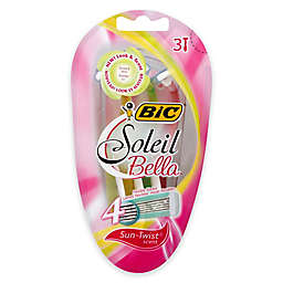 Bic® Soleil® Bella® 3-Count 4 Blade Disposable Razors for Women Sun-Twist Scent
