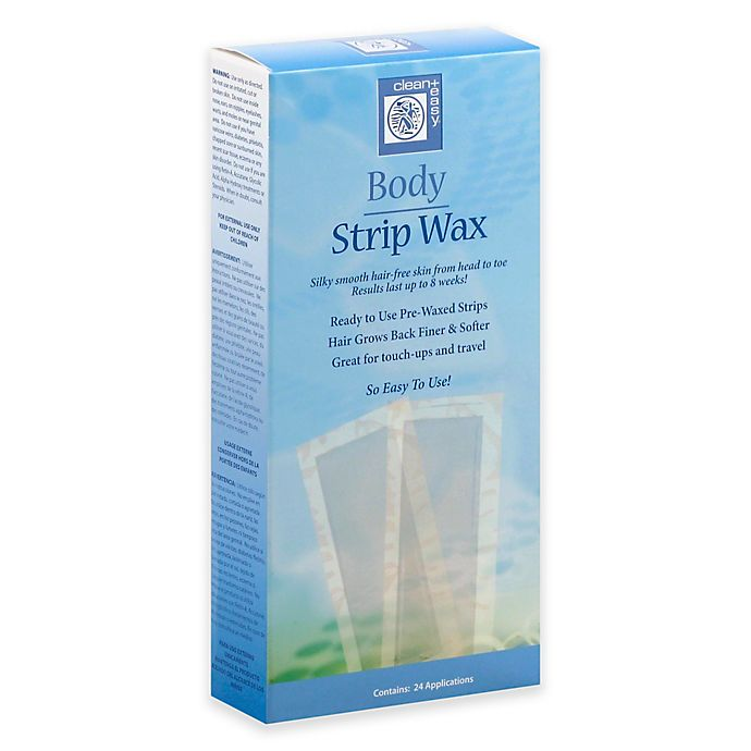 Alternate image 1 for Clean+ Easy 24-Count Body Strip Wax