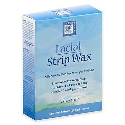 Clean+ Easy 12-Count Facial Strip Wax