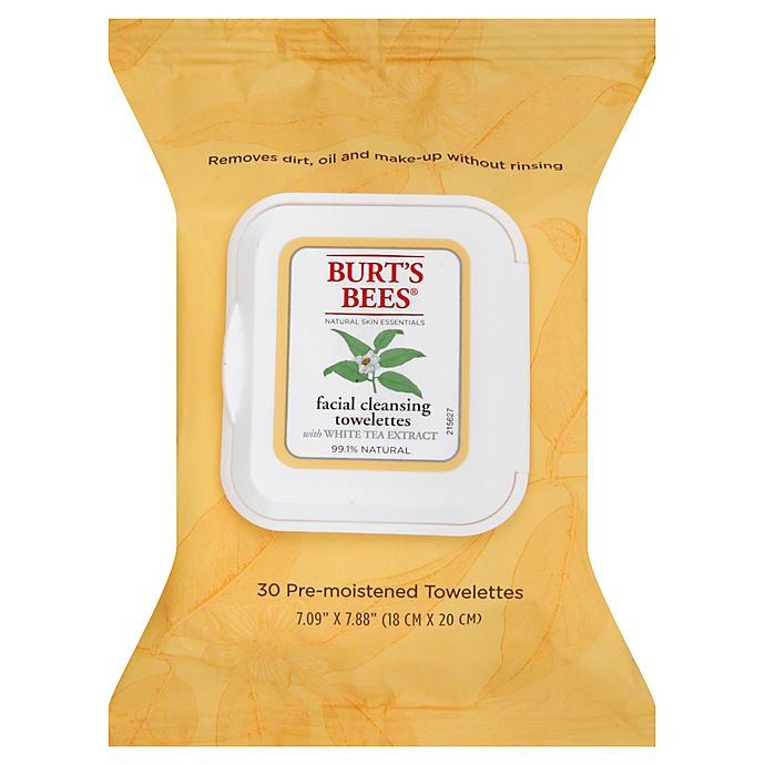 Alternate image 1 for Burt's Bees® 30-Count Facial Cleansing Towelettes with White Tea Extract