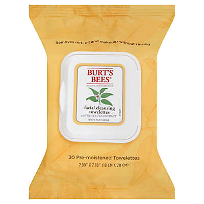 Burt's Bees® 30-Count Facial Cleansing Towelettes with White Tea Extract