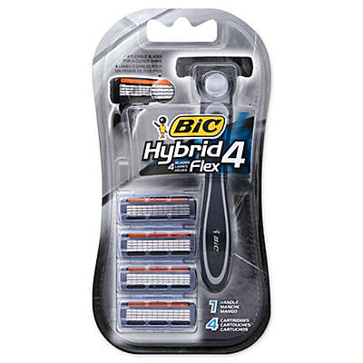 BIC® Hybrid 4 Flex™ Disposable Razor with 4 Refill Blades
