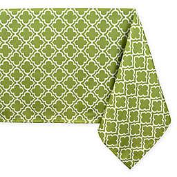 Lattice Tablecloth in Green/White with Umbrella Hole
