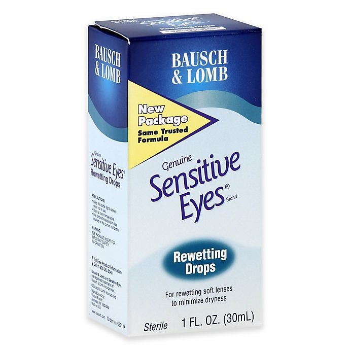 Alternate image 1 for Bausch + Lomb Sensitive Eyes 1 oz. Rewetting Drops