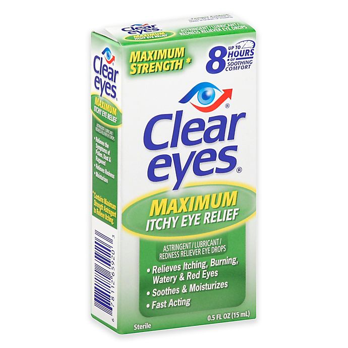 Alternate image 1 for Clear Eyes® .5 oz. Maximum Itchy Eye Relief Drops