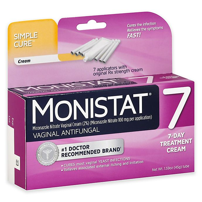 Alternate image 1 for Monistat® 7-Day Vaginal Antifungal Cream with Disposable Applicator