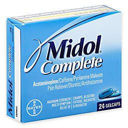 Midol® Complete 24-Count Pain Reliever Diuretic Antihistamine Gelcaps in Maximum Strength