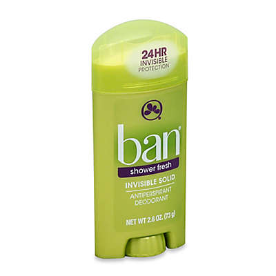 Ban® 2.6 oz. Invisible Solid Antiperspirant and Deodorant in Shower Fresh