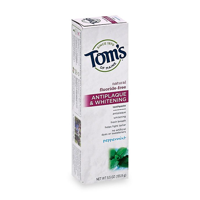 Alternate image 1 for Tom's of Maine 5.5 oz. Antiplaque & Whitening Toothpaste in Peppermint