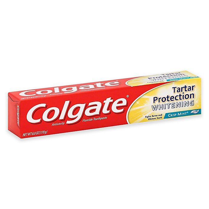 Colgate 6 Oz Tartar Protection Whitening Toothpaste In Crisp Mint