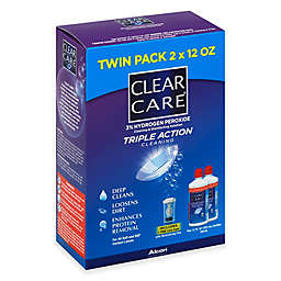 Clear Care Twin Pack 12 oz. Cleaning & Disinfecting Triple Action Cleaning Solution