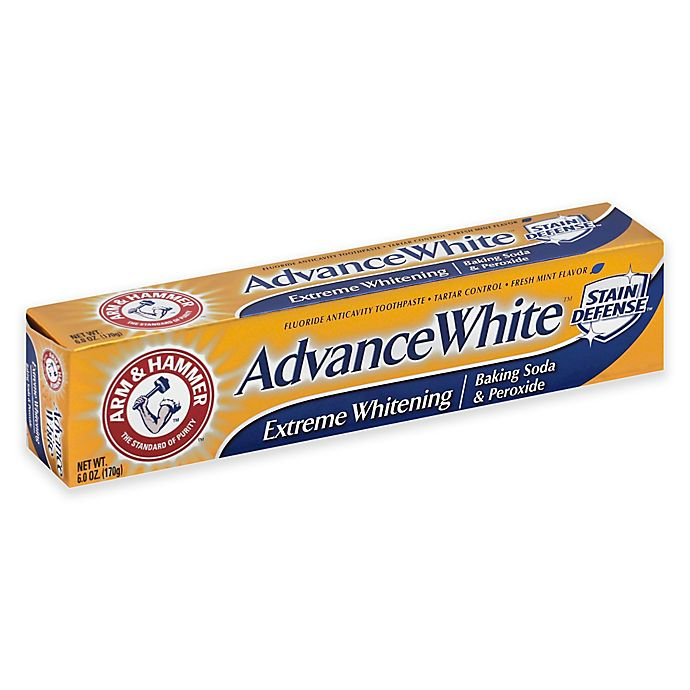Alternate image 1 for Arm and Hammer® 6 oz. Advance White Baking Soda and Peroxide Toothpaste in Fresh Mint
