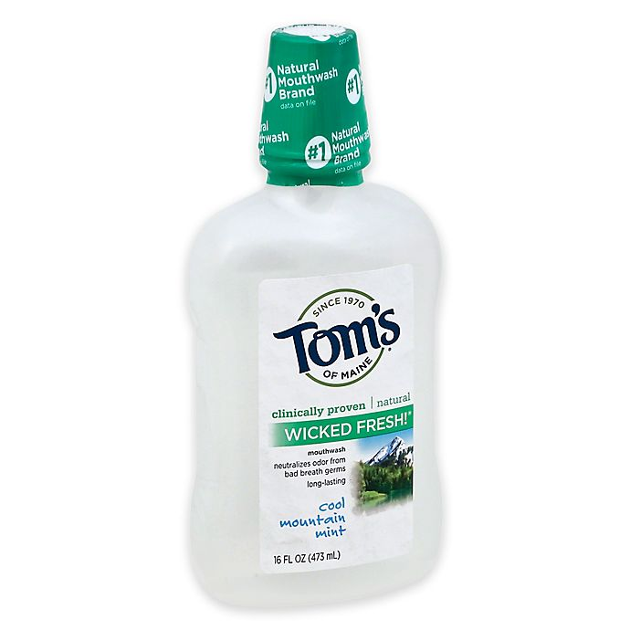 Alternate image 1 for Tom's of Maine 16 oz. Wicked Fresh Mouthwash in Cool Mountain Mint