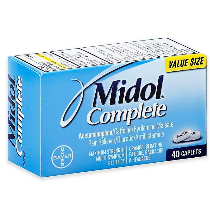 Alternate image 1 for Midol® Complete 40-Count Pain Reliever Diuretic Antihistamine Caplets in Maximum Strength