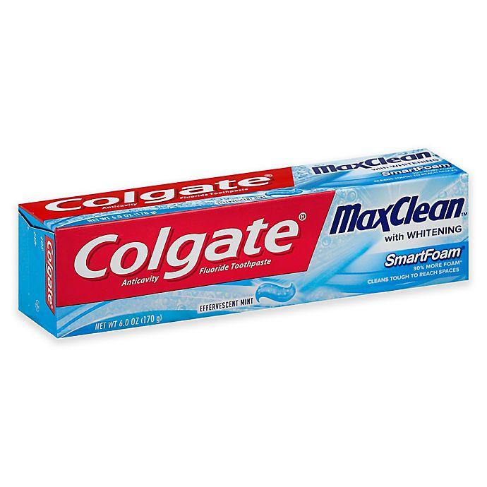 Colgate® 6 oz  MaxClean SmartFoam Whitening Toothpaste in