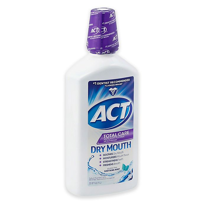 Act Mouthwash Dry Mouth >> ACT® 33.8 oz. Total Care Dry Mouth Anticavity Mouthwash in Mint | Bed Bath & Beyond