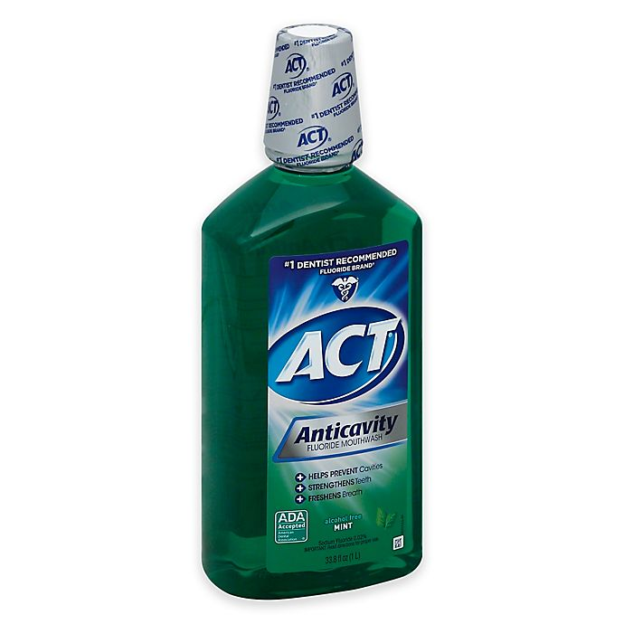 Alternate image 1 for ACT® Anticavity Fluoride Alcohol-Free Mouthwash in Mint