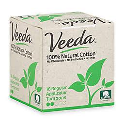 Veeda™ 16-Count Natural Cotton Regular Applicator Tampons
