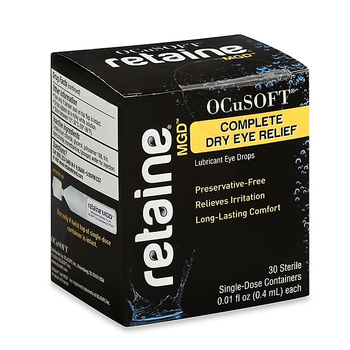 Ocusoft 30 Count Retaine Mgd Complete Dry Eye Lubricant Bed Bath