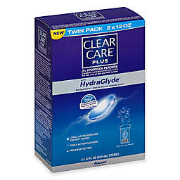 Clear Care Plus Twin Pack 12 oz. with Hydraglyde Cleaning and Disinfecting Solution