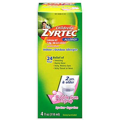 Children's Zyrtec® 4 oz. 24-Hour Allergy Syrup in Sugar Free Bubblegum