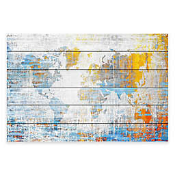 Marmont Hill Continental Journey 36-Inch x 24-Inch White Wood Wall Art