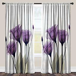 Laural Home® Lavender Hope Rod Pocket Sheer Window Curtain Panel (Single)